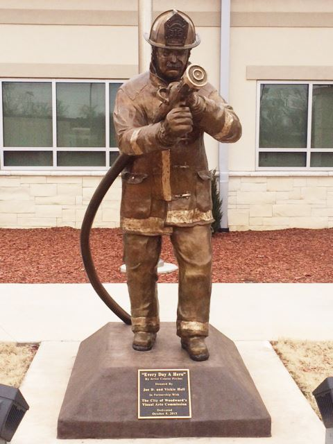 Fire Station.Statue